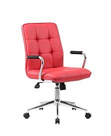 Modern Office Chair w/Chrome Arms