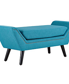 Modway Gambol Upholstered Fabric Bench
