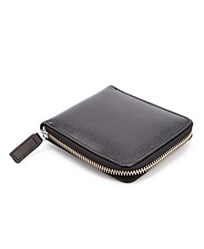 Royce RFID Blocking Zip Around Wallet in Genuine Saffiano Leather