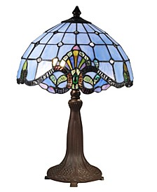 Blue Baroque Table Lamp