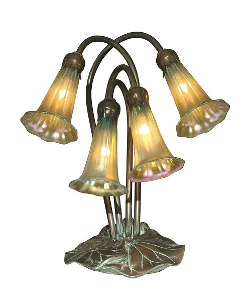 Dale Tiffany 4-Light Gold Lily Accent Lamp