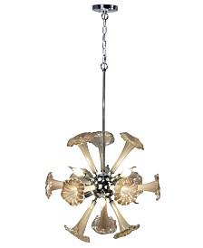 """Dale Tiffany Yuri 22""""W 6-Light Art Glass Chandelier"""