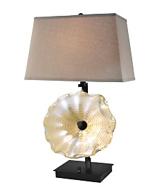 "Dale Tiffany Impasto 28.5""H Hand Blown Art Glass Table Lamp"