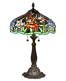 Dale Tiffany Dragonfly Waterlily Tiffany Table Lamp