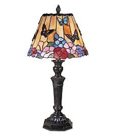 Dale Tiffany Butterfly, Peony Tiffany Table Lamp