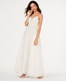 Teeze Me Juniors' Glitter Gown