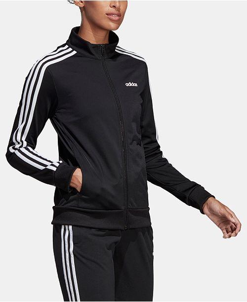 adidas Women's Essential 3-Stripe Tricot Track Jacket
