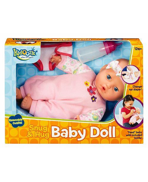 Fundamental Toys Kidoozie Snug And Hug Baby Doll Kids Macy S