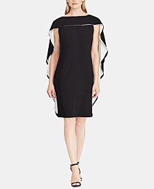 Lauren Ralph Lauren Two-Tone Crepe Dress