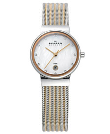 Skagen Women's Two-Tone Stainless Steel Mesh Bracelet Watch 26mm 355SSRS