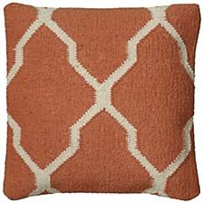 "18"" x 18"" Moroccan Tile Motif Pillow Cover"