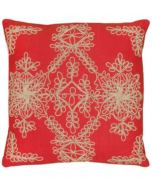 """Rizzy Home 18"""" x 18"""" Medallion Pillow Cover"""