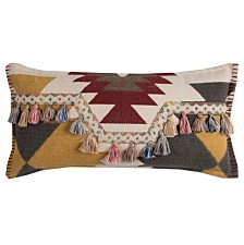 "Rizzy Home 11"" x 21"" Southwest Pillow Cover"