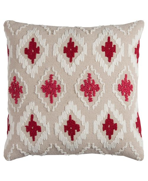 """Rizzy Home 20"""" x 20"""" Ikat Pillow Cover"""