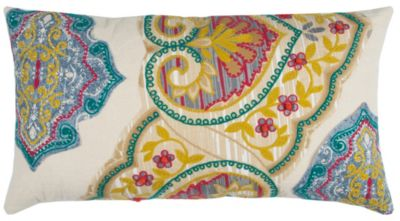 """14"""" x 26"""" Floral Pillow Cover"""
