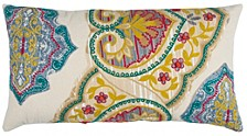 "14"" x 26"" Floral Pillow Cover"