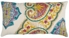 """Rizzy Home 14"""" x 26"""" Floral Pillow Cover"""