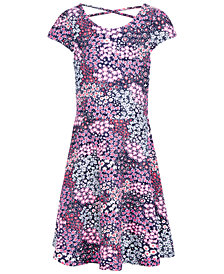Epic Threads Super Soft Big Girls Floral-Print Dress, Created for Macy's