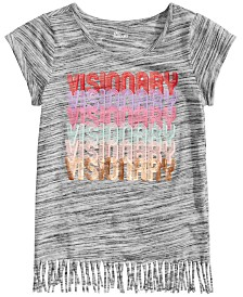 Epic Threads Big Girls Visionary Graphic Fringe Shirt, Created for Macy's