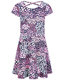 Epic Threads Little Girls Floral-Print Criss-Cross Dress, Created for Macy's