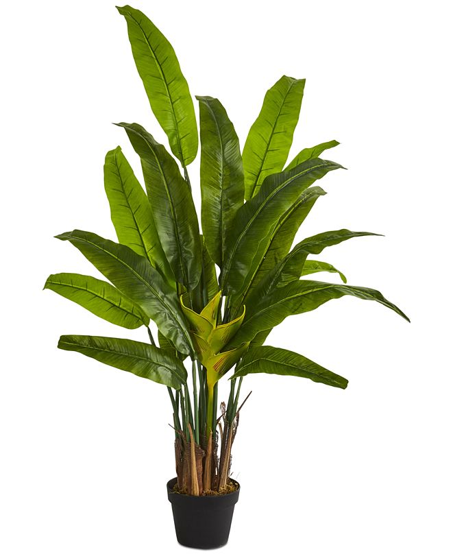Nearly Natural 4.5' Traveler's Palm Artificial Tree