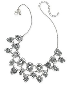 "I.N.C. Silver-Tone Teardrop Statement Necklace, 18"" + 3"" extender, Created for Macy's"