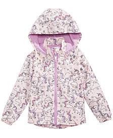 Epic Threads Little Girls Unicorn-Print Hooded Rain Jacket, Created for Macy's
