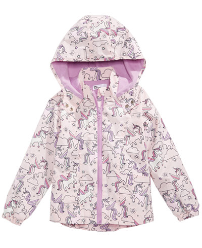 Epic Threads Little Girls Color-Changing Unicorn-Print Rain Jacket, Created for Macy's