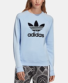 adidas Originals Originals Cotton Flocked-Logo Sweatshirt