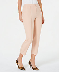 Alfani Crochet-Trim Ankle Pants, Created for Macy's