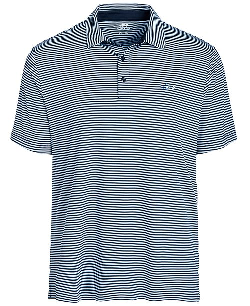 Greg Norman Men's Regular-Fit Performance Stretch Feeder Stripe Polo