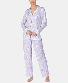 Lauren Ralph Lauren Petite Printed Knit Pajama Set