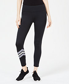 Material Girl Juniors' Stripe-Detail Printed Leggings, Created for Macy's