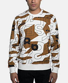 Sean John Men's Geometric Text Sweatshirt