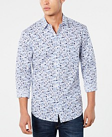 Men's Seaside Floral Graphic Shirt, Created for Macy's