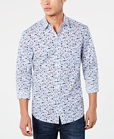 Club Room Men's Seaside Floral Graphic Shirt, Created for Macy's