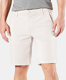 "Straight Fit Chino Smart 360 Flex 4-way Stretch 9.5"" Shorts"
