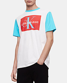 Calvin Klein Jeans Men's Colorblocked Logo Graphic T-Shirt