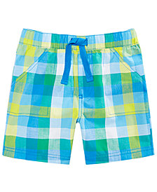 First Impressions Baby Boys Caribbean Plaid Cotton Shorts, Created for Macy's