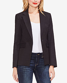 Vince Camuto Lace-Up Back Doubleweave Blazer