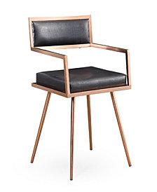 Marquee Black Croc Arm Chair