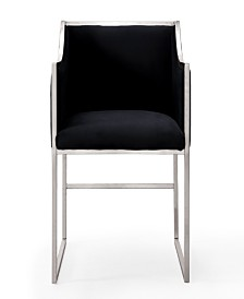 Atara Black Velvet Silver Chair