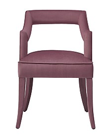 Tiffany Pink Slub Velvet Chair