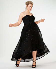 City Chic Trendy Plus Size Sweet Jewel Studded Gown