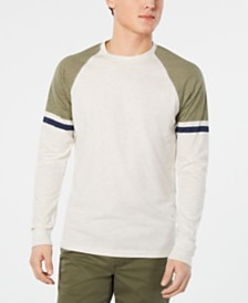 American Rag Men's Varsity Raglan Long-Sleeve T-Shirt, Created for Macy's