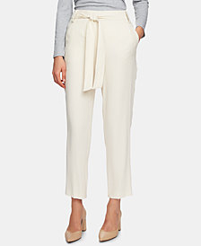 1.STATE Flat Front Tie Pant