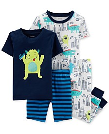 Carter's Baby Boys 4-Pc. Monster-Print Cotton Pajamas Set