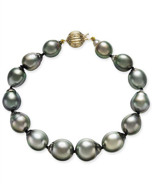 Macy's Tahitian Pearl Bracelet in 14k Gold (10mm)