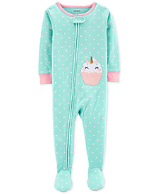 Carter's Baby Girls Uni-Cake Cotton Footed Pajamas