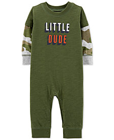 Carter's Baby Boys Camo-Print Little Dude Cotton Coverall